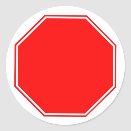 BlankCustomizable Stop Sign Sticker
