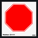 """Blank/Customizable Stop Sign Wall Decal<br><div class=""""desc"""">Add your own fun custom message to this wall decal. I also have other street sign themed wall decals in my store.</div>"""