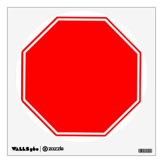Blank Customizable Stop Sign Wall Decal
