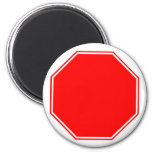 Blank/Cutomizable Stop Sign Magnet