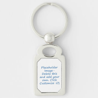 Blank design with placeholder image for DIY Key Chains
