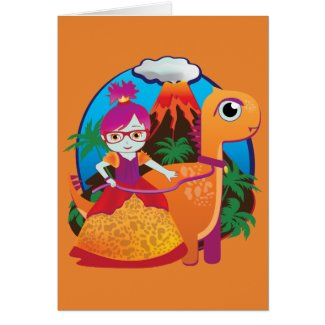 Blank Dinosaur Princess Note Cards! Card