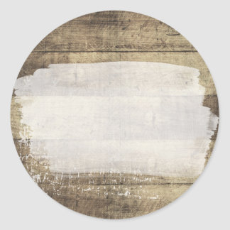 Blank Dirty Rustic Wood - Customizable Packaging Classic Round Sticker