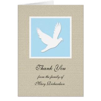 Blank Dove Religious Sympathy Thank You Card