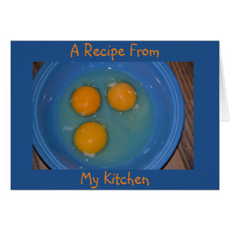 Blank Egg Recipe Card