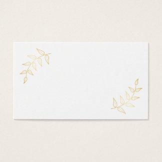 Blank Elegant Gold Laurels Business Card