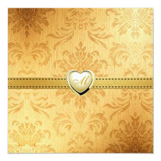 Blank Elegant Gold Vintage Monogram Wedding invite