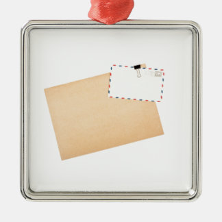 Blank envelope and post cards metal ornament