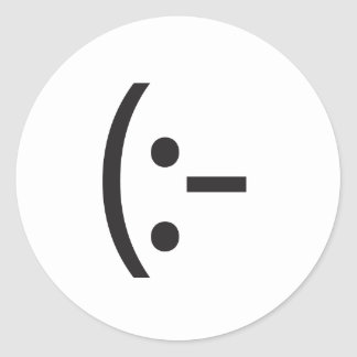 blank expression.ai round sticker