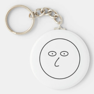 Blank Face - Decorate with dry erase markers! Basic Round Button Keychain