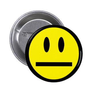 Blank Face Smiley Button