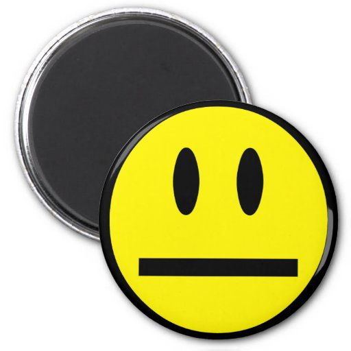 Blank Face Smiley Refrigerator Magnets