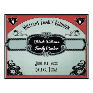 Blank Family Reunion Certificate - Oldest Member Letterhead