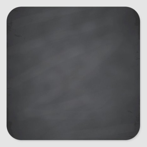 Blank Faux Chalkboard Customize Text Every Package Square Sticker