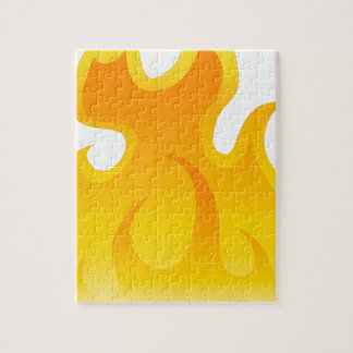 Blank Flame Icon Jigsaw Puzzle