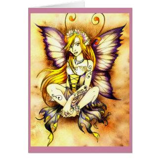 Blank Flower Fairy card