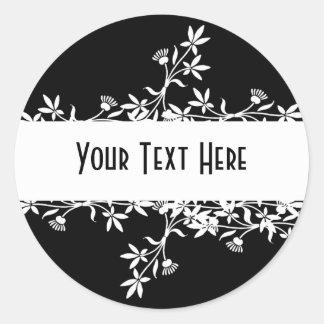 Blank Flower Label - Create Your Own Design Classic Round Sticker