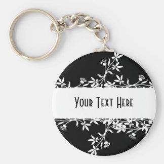 Blank Flower Label - Create Your Own Design Keychain