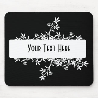 Blank Flower Label - Create Your Own Design Mouse Pad