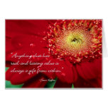 Blank Flower Note Card With Franz Kafka Quote