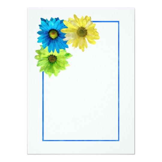 blank flowers invitation greeting card