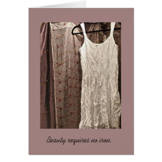 Blank Friendship Cards--Beauty requires no iron. Card