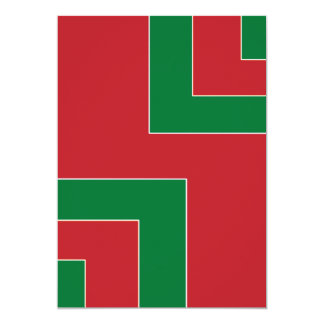 Blank Front Red/Green Color Corner (MB) Card