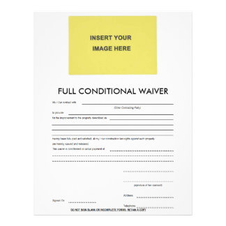 Blank Full Conditional Waiver Form Letterhead