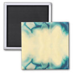 Blank Glamorous Aqua Blue Crystal Save The Date 2 Inch Square Magnet