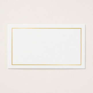 Blank Gold and White Wedding Advice and Wishes Business Card
