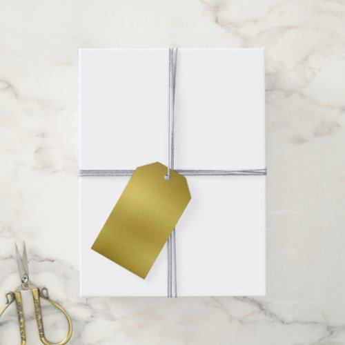 Blank Gold Background Template Gift Tags
