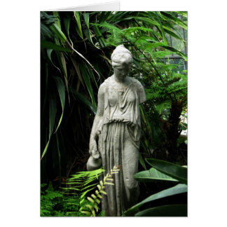 Blank-Grecian Statue Card