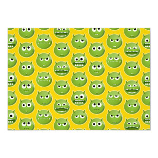 "Blank Green Monster Cards 5"" X 7"" Invitation Card"