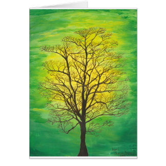 Blank Green Tree Greeting Card