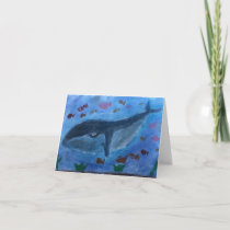 Blank greeting card for any occasion (whale)
