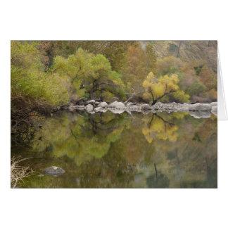 Blank greeting card of Kern River