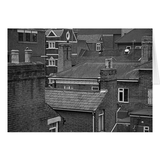 Blank Greeting Card - Rooftop View