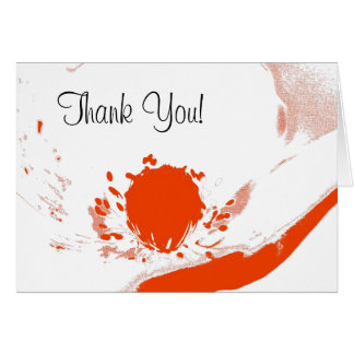 Blank Greeting Card (Template) Thank You Poppy