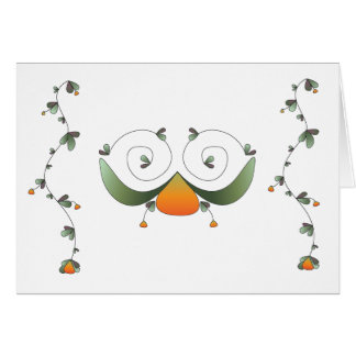 Blank Greeting Card Vines with Fruit