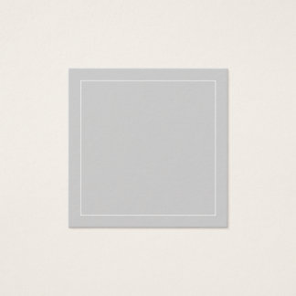 Blank Grey with White Border Square Business Card