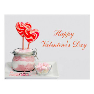 """Blank - """"Happy Valentine's Day"""" Candy Hearts Postcard"""
