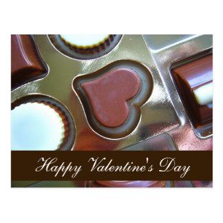 "Blank - ""Happy Valentine's Day"" Chocolate Heart Postcard"