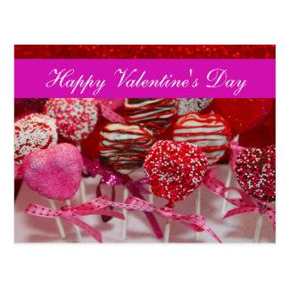 "Blank - ""Happy Valentine's Day"" Heart Cake Pops Postcard"