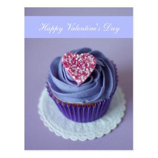 "Blank - ""Happy Valentine's Day"" Heart Cupcake Postcard"