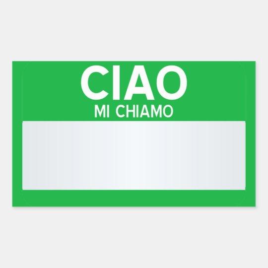 Blank Hello My Name Is Customizable Rectangular Sticker