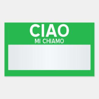 Blank Hello My Name Is ... Customizable Rectangular Sticker