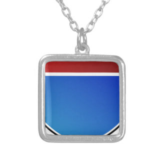 Blank Highway Freeway Road Sign Icon Square Pendant Necklace