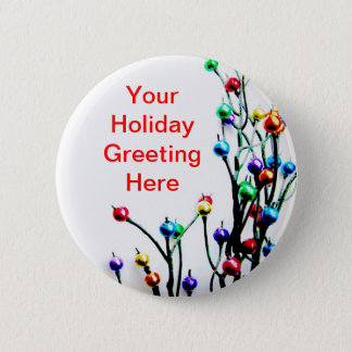 Blank Holiday Greeting Button