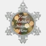 Blank Holiday Snowflake Ornament