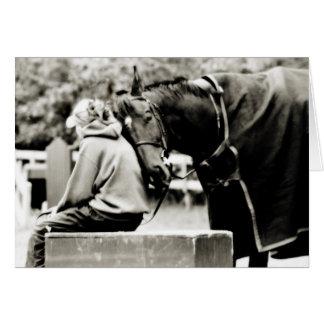 Blank Horse Greeting Card